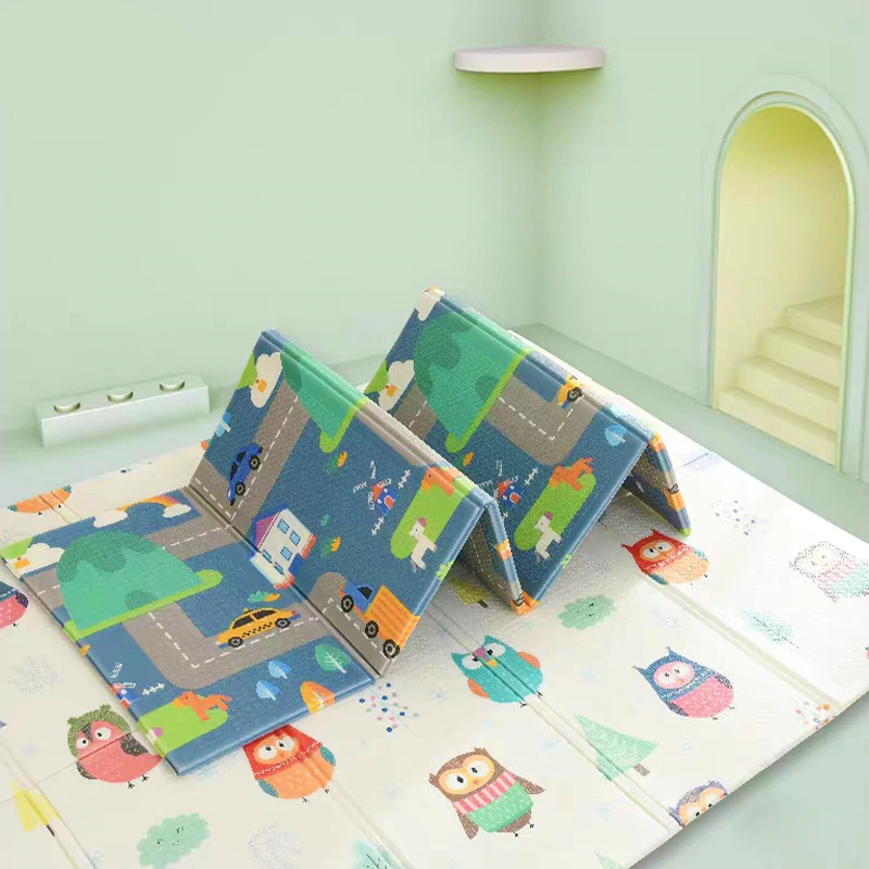 Baby Play Mat XPE Foam Double Sided Game Puzzle - The ...